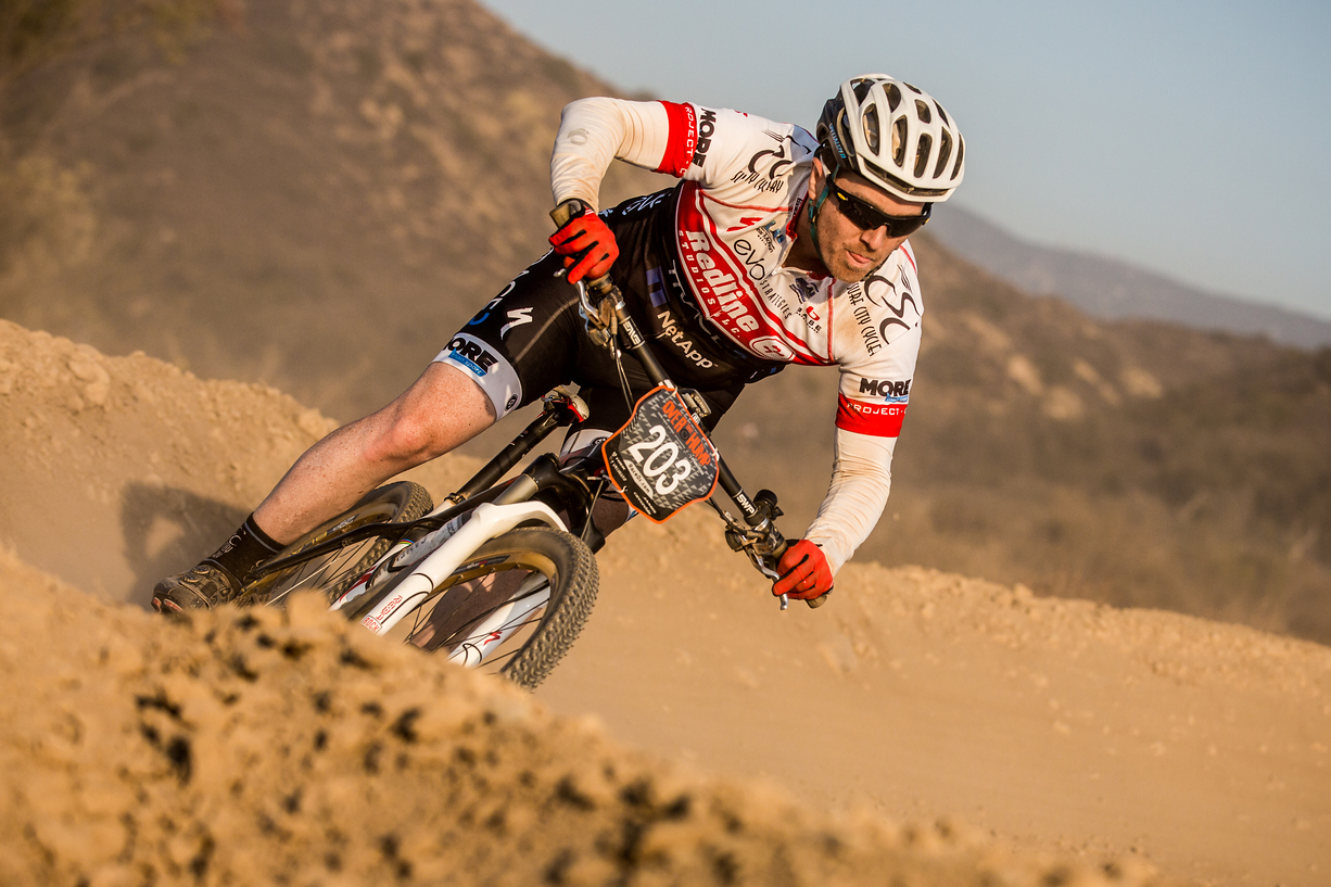 Dr. Milam in bike race, Orange COunty